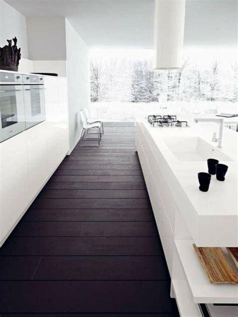 cuisine blanche  bois le mariage parfait pour une