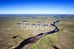 Aerial Photos Of Arctic Tundra Wetlands Stock Photos