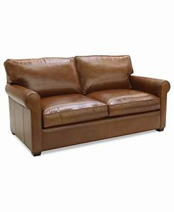 lear leather sofa bed full sleeper 75quotw x 40quotd x 32quoth With 75 sofa bed