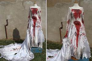 custom made bloody zombie corpse bride wedding by With bloody wedding dress