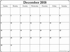 December 2018 free printable blank calendar collection