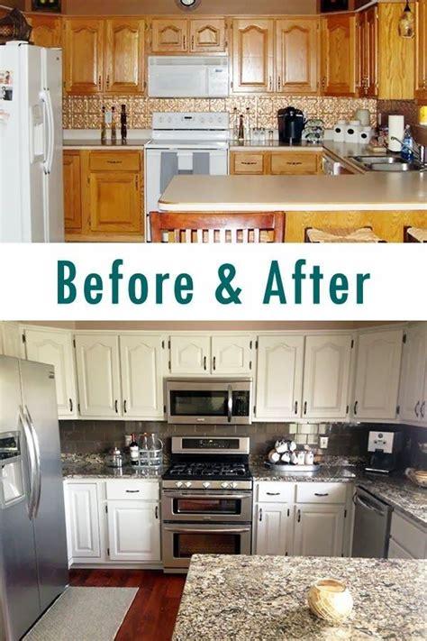 Trend Oak Kitchen Cabinet Makeover  Greenvirals Style