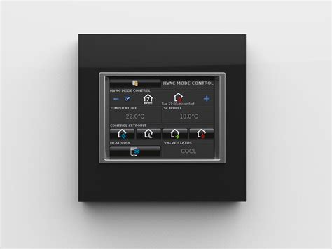 new squared touch panel 3 5 knx eelectron
