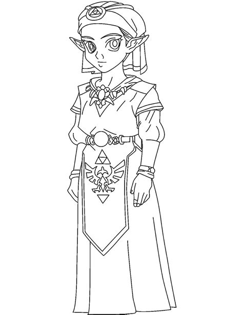 zelda video games printable coloring pages
