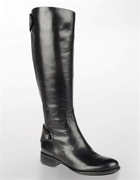 franco sarto rivoli tall leather boots black lyst