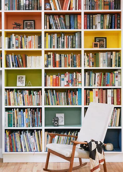 Rainbow Bookcase In New York City Apartment  Home Design