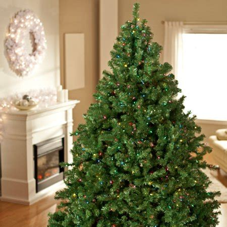 artificial christmas trees at wal mart classic pine pre lit tree walmart