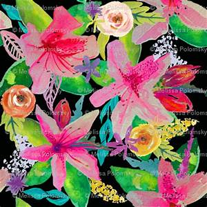 Neon Azelea Garden LARGE wallpaper theartwerks