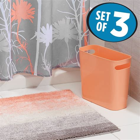 rosela set ombre shower curtain coral 100 grey and teal bathroom