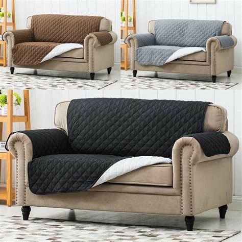 Sofa Protector by Luxury Quilted Reversible Sofa Protector Throw Cover