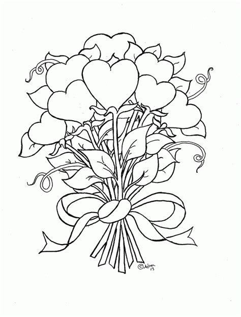 hearts  wings  roses coloring pages coloring home