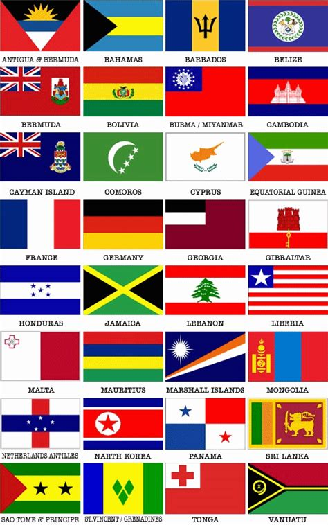 cruise ship registry flags  convenience flag state