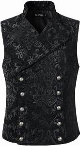Darcchic Mens Tapestry Double Breasted Vest Waistcoat