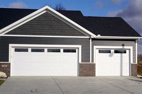 White Garage Doors panel plain glass windows white garage door in downs