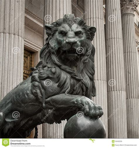 lion symbol madrid royalty  stock photo image