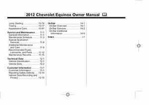 2012 Chevrolet Equinox Owner U0026 39 S Manual Baltimore  Maryland