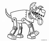 Robot Coloring Pages Dog Cool Robo Dinosaur Robots Printable Sheets Cool2bkids Paw Patrol Sketch Printables Doodle Template sketch template