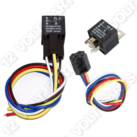 Volt Spdt Pin Automotive Relay With Wire