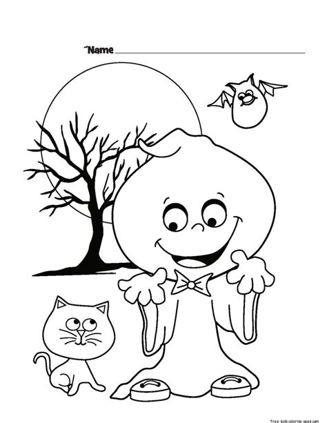 halloween ghost printable coloring pages  kidsfree