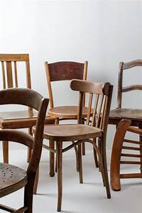 Wooden, Dining, Chairs, Carlos, Vintage, Brown, Mismatching