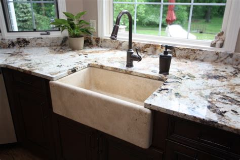 Stone Farmhouse Sink-traditional-kitchen Sinks