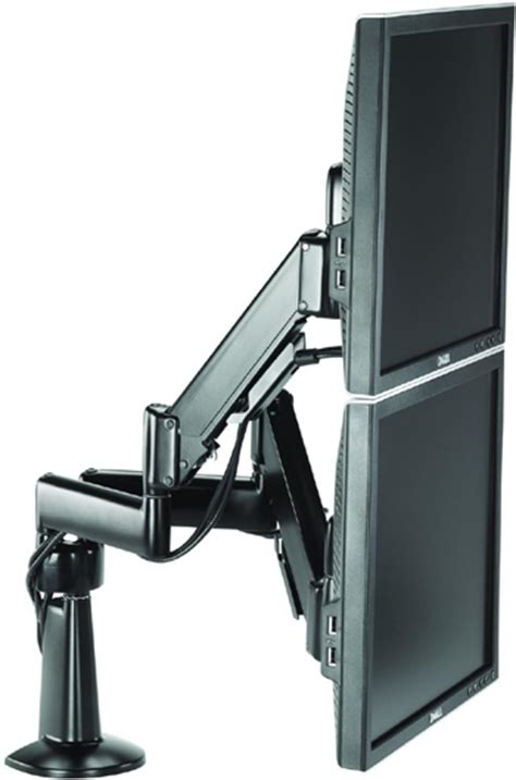 chief kcy220 height adjustable dual arm desk mount dual