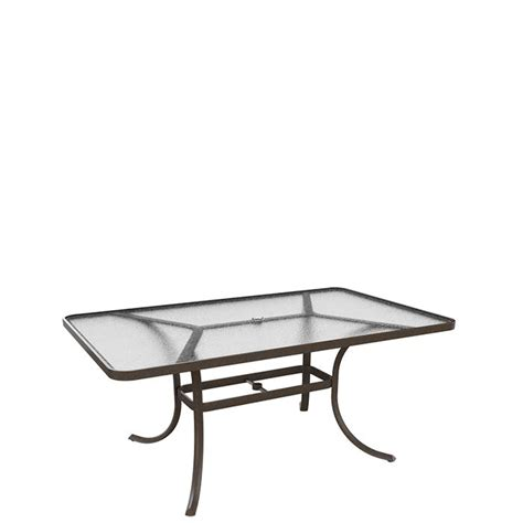 acrylic 66 quot x 40 quot rectangular umbrella dining table