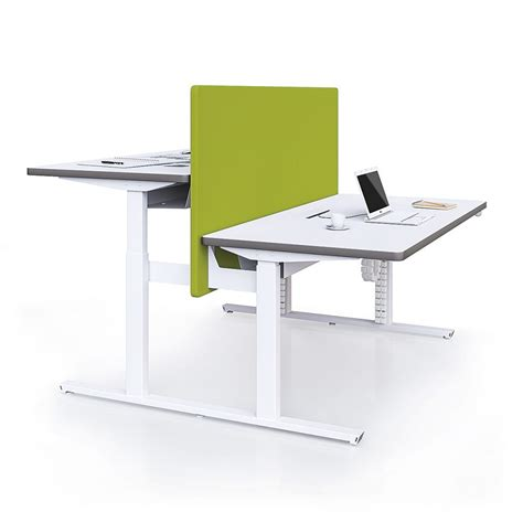 ecran de bureau bureau réglable en hauteur unia mobilier bureaux 94