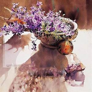 You Mee Park Arte / Flores en un vaso Pinterest Flores en, Vasos y Acuarela