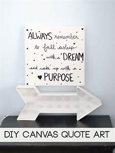 Laura rahel diy canvas wall art quote