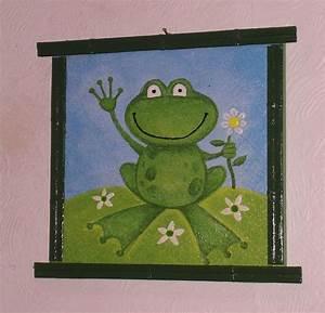 Petit Cadre Deco : grenouille photo de petit cadre o d co de josie ~ Teatrodelosmanantiales.com Idées de Décoration