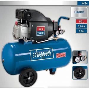 Compresseur Michelin 50 L : scheppach compresseur lubrifi 50l 8 bar 1500w hc54 ~ Melissatoandfro.com Idées de Décoration