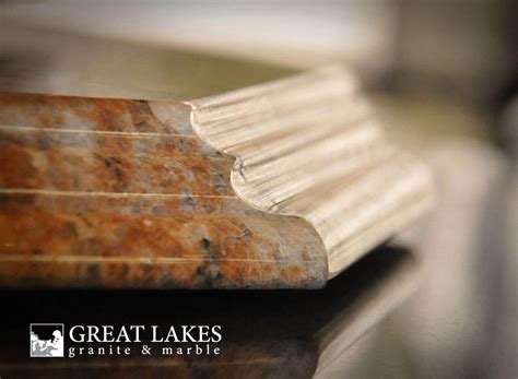 double ogee edge profile great lakes granite marble