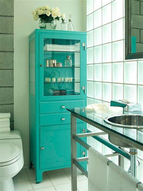 cool bathroom storage ideas 36 cool turquoise home décor ideas digsdigs