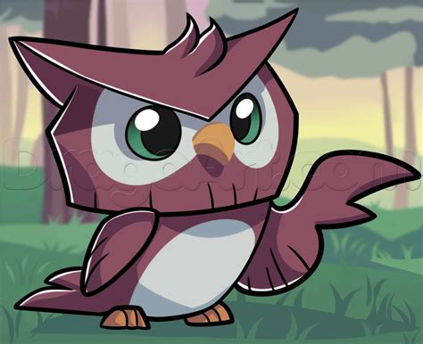 draw  animal jam owl   draw pinterest