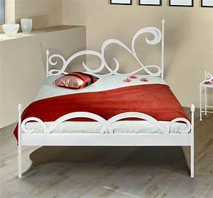 Bett Mit Ablagefläche : stylisches metallbett z b 180x200 cm in braun temco ~ Indierocktalk.com Haus und Dekorationen