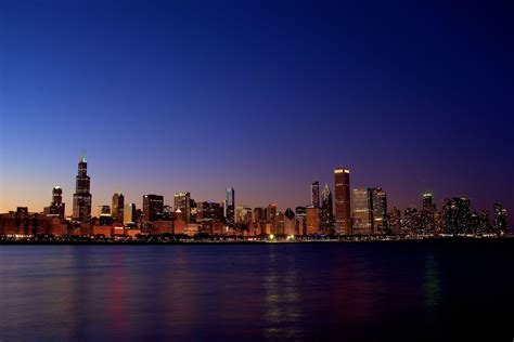 Skyline Background Chicago Skyline Wallpapers Wallpaper Cave