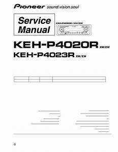 Pioneer Keh-p4020r  Xm  Ew