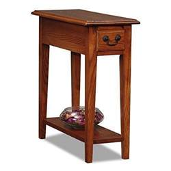 small end table chair sofa side narrow drawer shelf brown