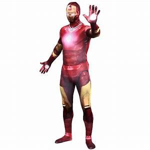 Adult Iron Man Costume Superhero Lycra Spandex 2nd Skin ...