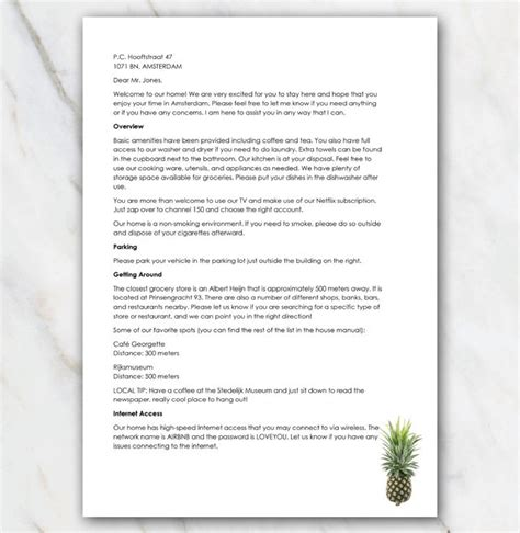printable  letter  pineapple   airbnb