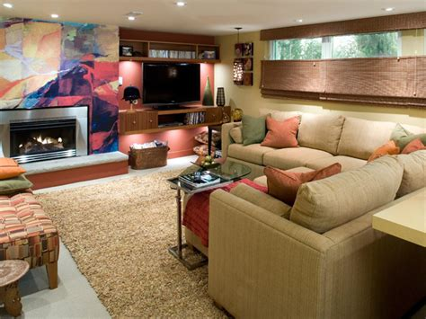 basement decorating tips basement makeover ideas from candice olson decorating and design ideas for interior rooms hgtv