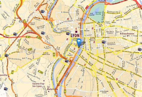 lyon map  lyon satellite image