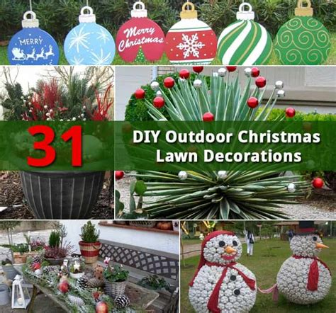 diy outdoor lawn christmas decorations diy do it your self