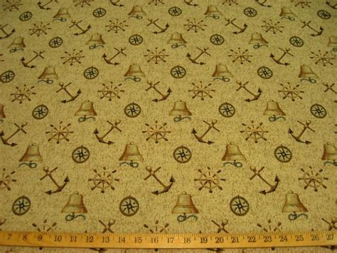 Nautical Upholstery by Regal Nautical Objects Tapestry Upholstery Fabric Ft825 Ebay