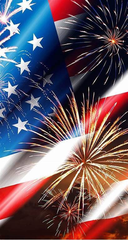 July 4th Fireworks Flag American Wallpapers Iphone