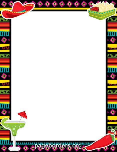 Free Printable Fiesta Borders