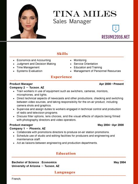 Most Recent Resume Format 2016 by New Resume Format