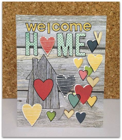 Home Design Ideas Handmade by Welcome Home Card Scrapbook Card Using