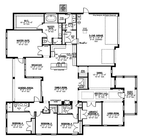 House Plans With Big Bedrooms by The Living Room With Doors For Use As A